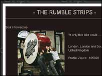 Screengrab from Rumble Strips homepage, Rumble Strips