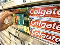 Colgate toothpaste tubes