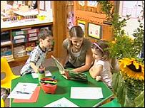 Nursery school children