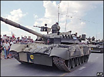 A Russian tank. File photo