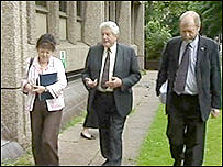 Rhodri Morgan with Labour colleagues