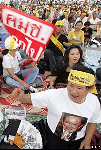 Pro-Thaksin protesters in Bangkok
