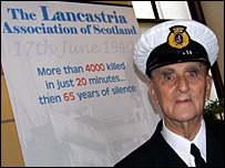 Bill Hughes was on board the Lancastria