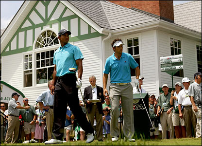 Tiger Woods and Nick Dougherty