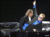 Elton John performs in Kiev