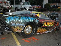 Drag car involved in accident