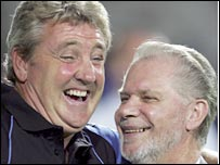Birmingham boss Steve Bruce and chairman David Gold