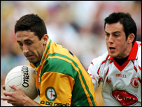 Donegal's Rory Kavanagh and Davy Harte