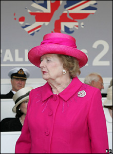 Lady Thatcher at the commemoration, Sunday 17 June 2007