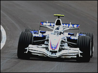 Sebastian Vettel makes his debut for BMW Sauber