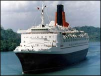 The QE2 in Southampton