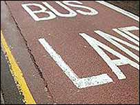 Generic picture of a bus lane