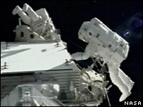Astronauts on spacewalk (Nasa)