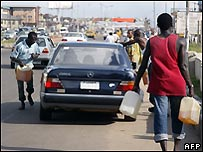 Fuel hawkers in Lagos