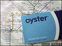 Oyster card, Getty