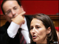 Segolene Royal and her partner, Socialist Party leader Francois Hollande