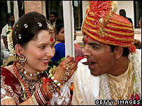 Polish bride and Indian groom