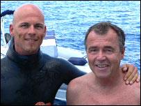 Herbert Nitsch a la izquierda (foto: AIDA)