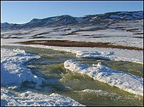 الثلوج تذوب في جرينلاند (صورة: توكي هووي)