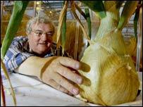 Medwyn Williams with his onion