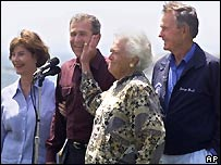 The Bush family in 1999