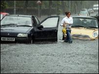 Flooding in east Belfast