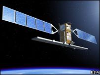 Artist's concept of Sentinel 1 (ESA - P. Carril)