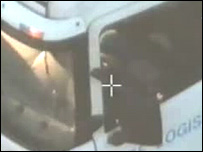 The lorry on police CCTV