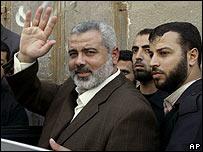 Ismail Haniya, primer ministro palestino destituído, en Ciudad de Gaza