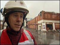 Steve Makepeace, at the scene of the blaze