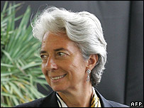 Economy and Finance Minister Christine Lagarde