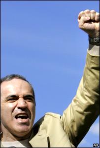 Garry Kasparov during a rally in St Petersburg (9 June 2007)