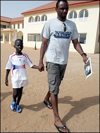 Patrick Vieira photographed during his trip to Senegal