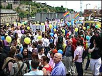 Pride march in Edinburgh 2005 (Pic: Pride Scotia)