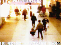 CCTV footage of James's abduction
