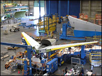 Final assembly of Dreamliner 787 at Boeing's US facility  