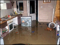 A flooded home in East Street, Dover (sent in by Paul Turvey)