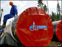 Gazprom gas pipeline