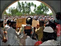 Funeral procession of Abdul Rashid Ghazi in Punjab, 12 July 2007