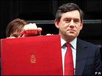Gordon Brown after 2003 Budget