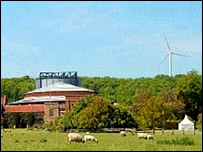How the wind turbine would look above Glyndebourne