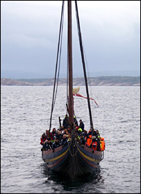 Viking ship (BBC)