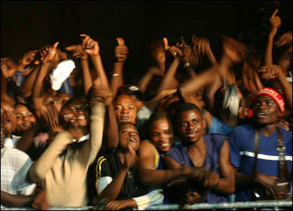 Crowds at the Pan-African Festival of Music in Congo