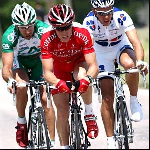William Bonnet and Sylvain Chavanel and Philippe Gilbert