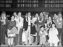 Some of the first Chinese-born Taiwanese returning to mainland China