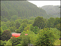 Skanda vale nestled in the valley