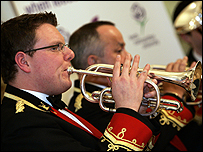 The Black Dyke Band. Pic courtesy Leeds Met University.