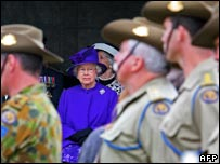 The Queen at Tyne Cot cemetery