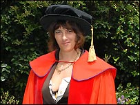 Tracey Emin after receiving her honorary degree