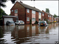 Floods in Beverley, East Yorkshire
